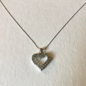 10k solid White Gold Diamond Necklace